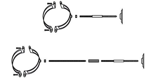 Схема установки крепления